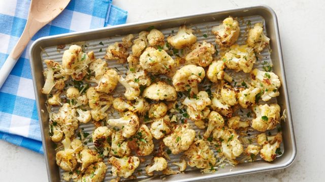 Easy Parmesan Roasted Cauliflower 16x9